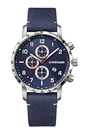 Wenger Hombre Attitude Chronograph - Reloj de Acero Inoxidable de Cuarzo analógico de fabricación Suiza 01.1543.109