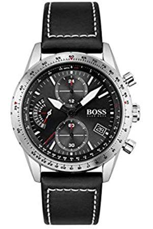 HUGO BOSS Reloj Cosa análoga para de los Hombres de Cuarzo con Correa en Cuero 1513853