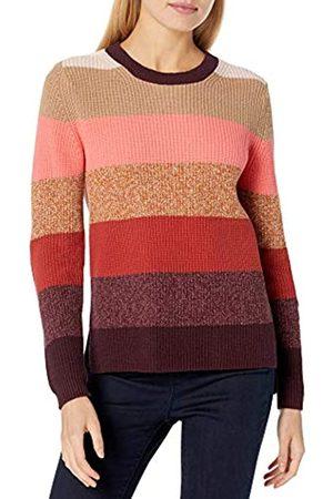 Goodthreads Cotton Half-Cardigan Stitch Crewneck Sweater Suéter L