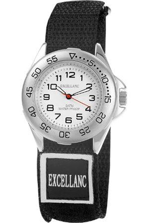 Excellanc Hombre Relojes - 220222000001 - Reloj analógico de caballero de cuarzo con correa textil negra - sumergible a 30 metros