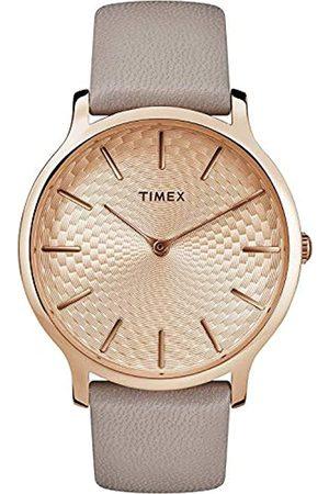 Timex Reloj Analógico para Unisex Adultos de Automático con Correa en Cuero TW2R49500