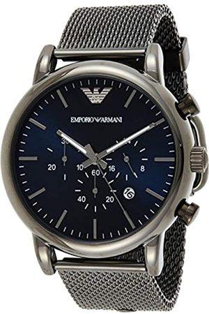 Emporio Armani Reloj Cronógrafo para Hombre de Cuarzo con Correa en Malla de Acero Inoxidable AR1979