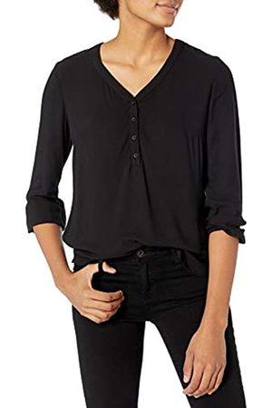 Amazon 3/4 Sleeve Button Popover Shirt Dress-Shirts