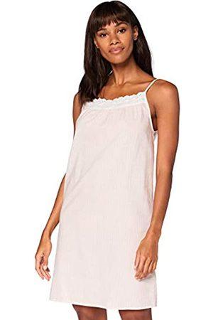 IRIS & LILLY Mujer Camisones y vestidos - Camisón Sin Mangas de Algodón Mujer, (rayas rosas)., XS
