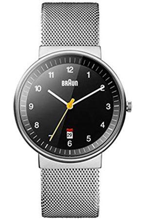 von Braun BN0032BKSLMHG - Reloj análogico de cuarzo con correa de acero inoxidable para hombre