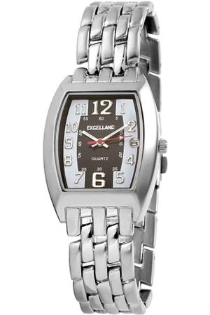 Excellanc 284021300034 - Reloj analógico de caballero de cuarzo con correa de aleación plateada