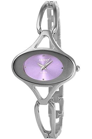 Akzent SS7123800082 - Reloj analógico de mujer de cuarzo con correa de aleación plateada - sumergible a 30 metros