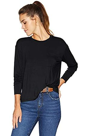 Daily Ritual Jersey Long-Sleeve Boxy Pocket tee Fashion-t-Shirts