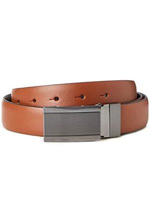 FIND Marca Amazon - Cinturón de Cuero Hombre, (Brown), M