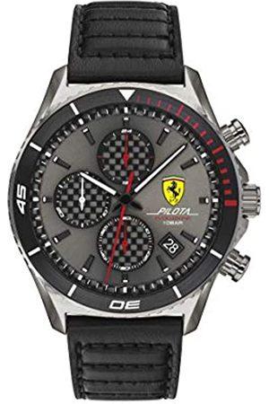 Scuderia Ferrari Hombre Relojes - Reloj Analógico para Hombre de Cuarzo con Correa en Piel de Becerro de Cuero 0830773
