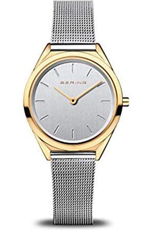 Bering Reloj Analógico Ultra Slim Collection para Mujer de Cuarzo con Correa en Acero Inoxidable & Cristal de Zafiro 17031-010