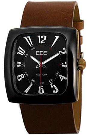 EOS NEW YORK 100LBRN - Reloj de caballero de cuarzo con correa de piel