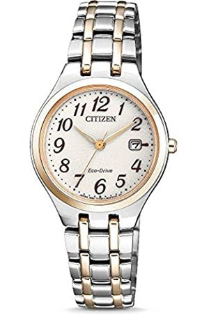 Citizen Reloj Analogico para Mujer de Energía Solar con Correa en Acero Inoxidable EW2486-87A
