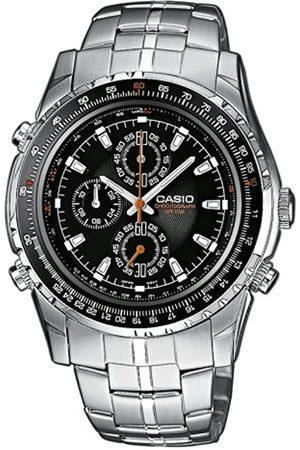 Casio Collection MTP-4500D-1AVEF - Reloj cronógrafo de caballero de cuarzo con correa de acero inoxidable plateada