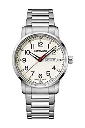 Wenger Hombre Relojes - Hombre Attitude Heritage - Reloj de Acero Inoxidable de Cuarzo analógico de fabricación Suiza 01.1541.108