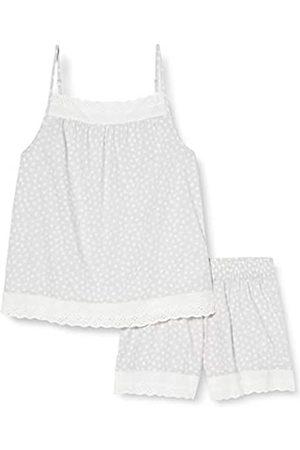 IRIS & LILLY Mujer Pijamas - Pijama de Satén Mujer, (Grey Dot), L