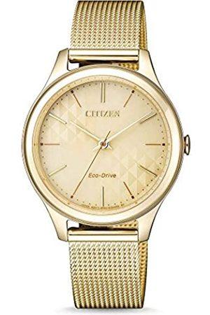 Citizen Mujer Relojes - Reloj Analógico para Mujer de Cuarzo con Correa en Acero Inoxidable EM0502-86P