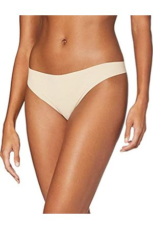 IRIS & LILLY Calzoncillo Tanga de Microfibra Mujer, Pack de 5, /Piel pálida/ , XL