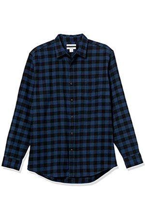 Amazon Hombre Casual - Camisa de Franela de Manga Larga de Ajuste Regular. Button-Down-Shirts