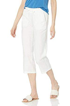 Amazon Pantalón Corto con cordón de Mezcla de Lino