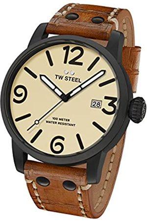 TW steel Reloj Analógico para Hombre de Cuarzo con Correa en Cuero MS42
