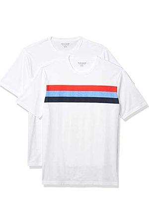 Amazon 2-Pack Slim-Fit Crewneck T-Shirt Fashion-t-Shirts, S