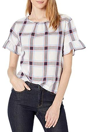 Goodthreads Mujer Camisetas y Tops - Cotton Dobby Flutter-Sleeve Woven tee Fashion-t-Shirts