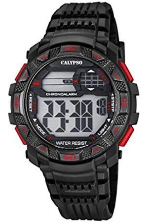 Calypso Hombre Relojes - Hombre Reloj Digital con Pantalla LCD Pantalla Digital Dial y Correa de plástico en Color k5702/5