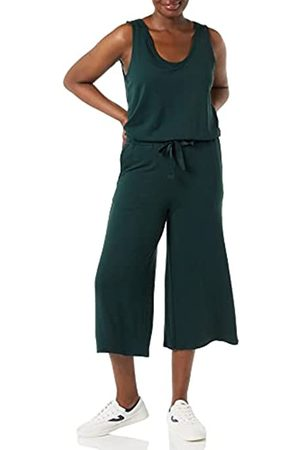 Daily Ritual Mujer Pantalones anchos y harén - Supersoft Terry Relaxed-Fit Sleeveless Wide-Leg Jumpsuit Pantalones XL