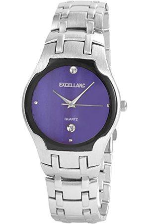 Excellanc Hombre Relojes - 284023100106 - Reloj analógico de caballero de cuarzo con correa de aleación plateada