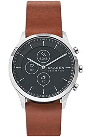 Skagen Smartwatch HR Híbrido para Hombre con Correa en Cuero SKT3000