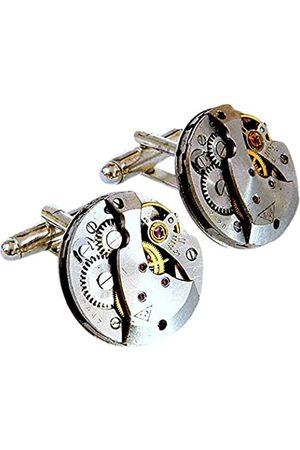 Sparks of Time Gemelos para hombre de chapada en oro 411