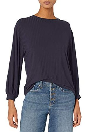 Daily Ritual Rayon Spandex Wide Rib Blouson-Sleeve Sweatshirt Camisa