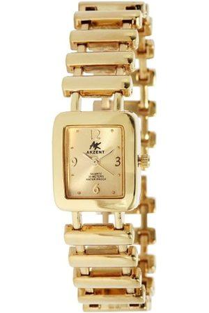 Akzent SS7104000031 - Reloj analógico de mujer de cuarzo con correa de aleación dorada - sumergible a 30 metros
