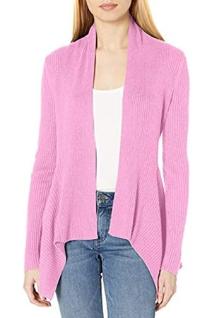 Daily Ritual Mujer Chaqueta de punto - Ultra-Soft Ribbed Draped Cardigan Sweater Suéter XXL