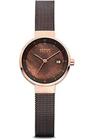 Bering Reloj Analógico para Mujer de Energía Solar con Correa en Acero Inoxidable 14426-265