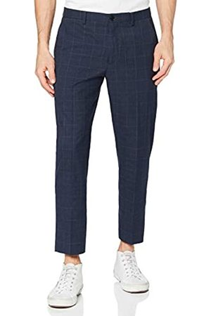 FIND Hombre Pantalones slim y skinny - Marca Amazon - Tapered Slim Check Pantalones Hombre, 33W / 34L