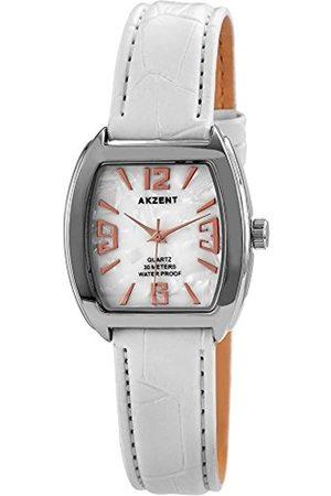 Akzent Mujer Relojes - 14 - Reloj de Cuarzo para Mujer, con Correa de Diversos Materiales