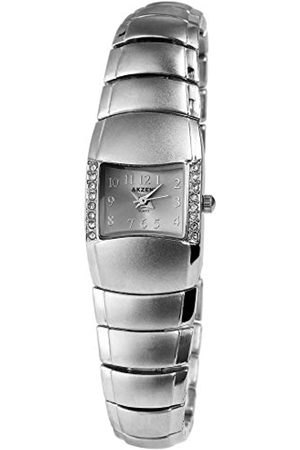 Akzent SS7121500069 - Reloj analógico de mujer de cuarzo con correa de aleación plateada - sumergible a 30 metros