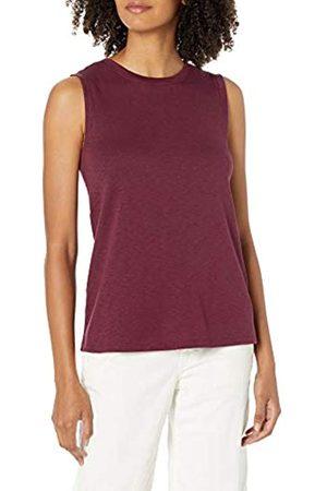 Daily Ritual Mujer Blusas - Cotton Modal Stretch Slub Muscle-Sleeve Swing Tunic Shirts