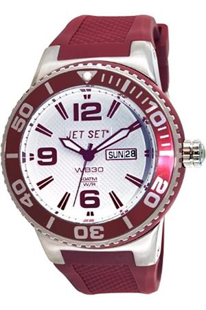 JET SET J55454-07 - Reloj analógico de Cuarzo Unisex con Correa de Caucho
