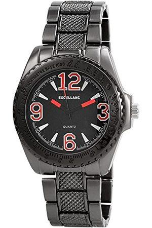 Excellanc 280171100010 - Reloj analógico de caballero de cuarzo con correa de aleación