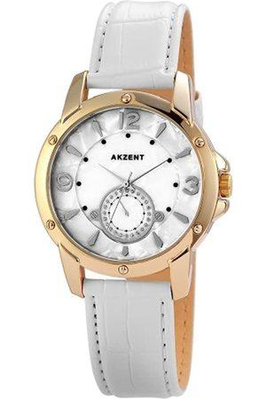 Akzent Mujer Relojes - 11 - Reloj de Cuarzo para Mujer, con Correa de Diversos Materiales