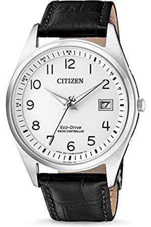 Citizen Hombre Relojes - Reloj Analogico para Hombre de Energía Solar con Correa en Cuero AS2050-10A