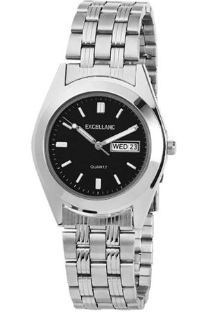Excellanc Hombre Relojes - 284121000025 - Reloj analógico de caballero de cuarzo con correa de aleación plateada