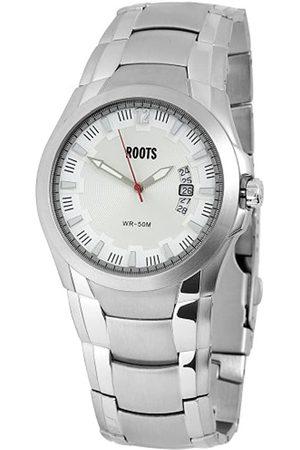 Roots Hombre Relojes - Sportly - Reloj analógico de caballero de cuarzo con correa de acero inoxidable plateada