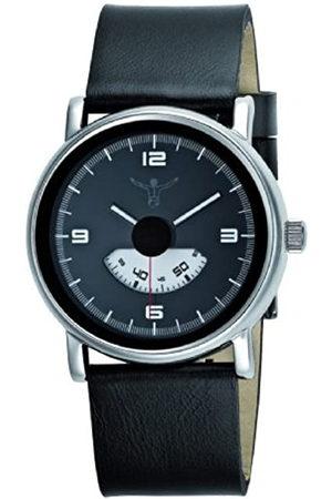 CHIEMSEE CW-0006-LQ - Reloj analógico de caballero de cuarzo con correa de piel negra - sumergible a 50 metros