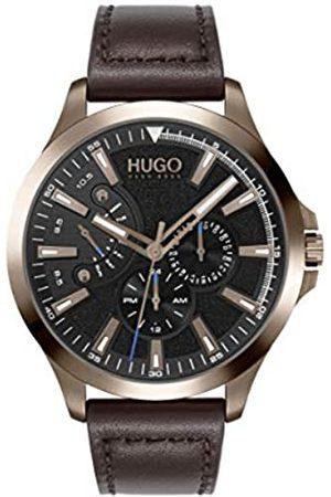 HUGO BOSS Hombre Relojes - RelojAnalógicoparaHombredeCuarzoconCorreaenPieldeBecerrodeCuero1530173