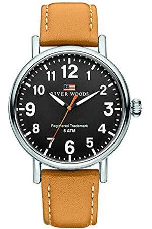 River Woods Reloj Analógico para Hombre de Cuarzo con Correa en Cuero RW420020