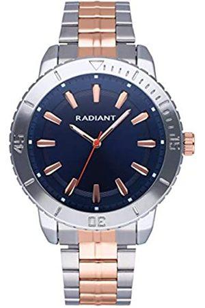 Radiant Hombre Relojes - Reloj analógico para Hombre de . Colección Storm. Reloj con Brazalete Bicolor con Oro Rosa y Esfera Azul. 5ATM. 44mm. Referencia RA570204.